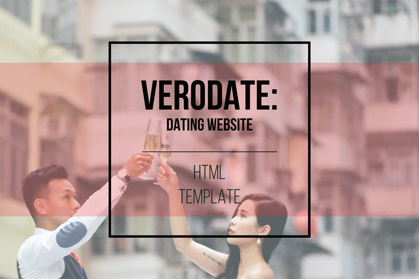 VeroDate: dating website HTML template